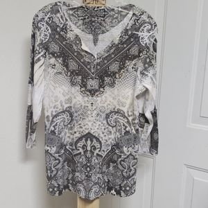 Style and Company long sleeve  blouse Xl